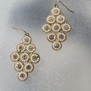 Francesca's Sparkle Circle Reticulated Earrings